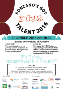 PONZANO'S GOT TALENT 2016