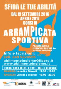 poster arrampicata